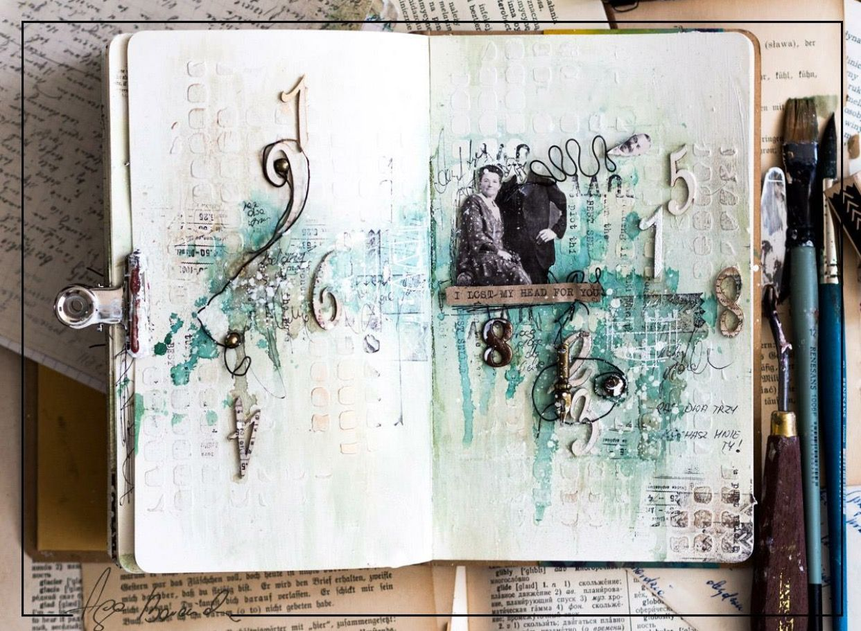 Vintage Art Journal With Prima Products Agabaraniak Com Art Journal Art Vintage Art