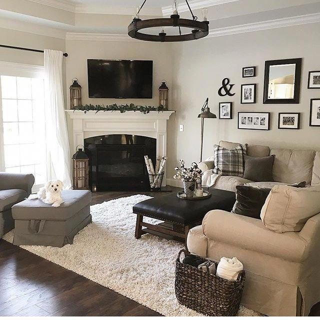 Corner Fireplace Furniture Layout