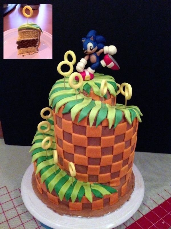 Sonic Green Hill Zone Cake Beautiful Cakes Cake