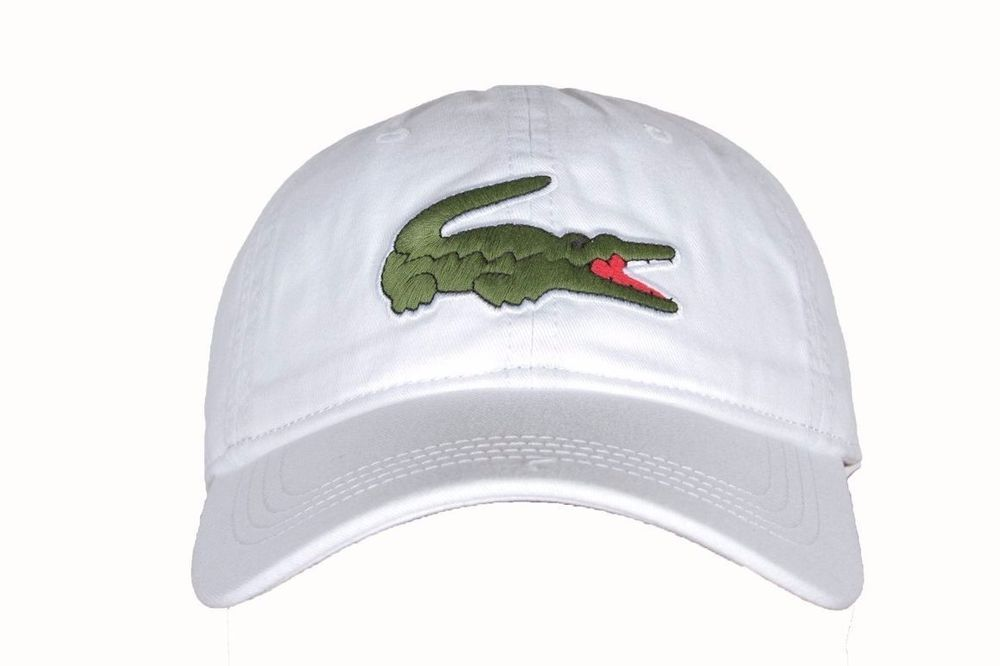 8045baa3637 Lacoste Mens Big Croc Cotton Gabardine Baseball Caps Summer Spring Fashion  White  fashion  clothing  shoes  accessories  mensaccessories  hats (ebay  link)