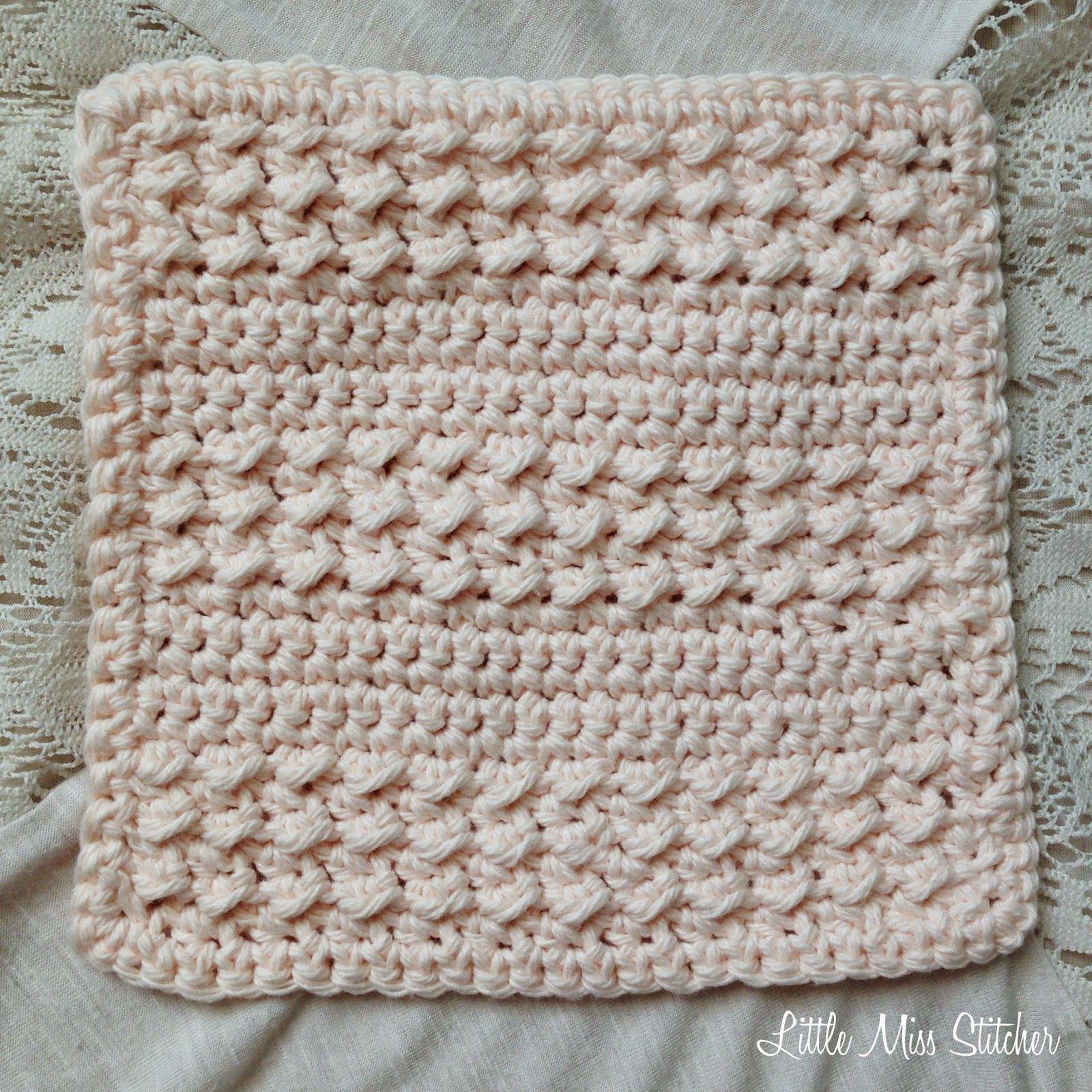 Little Miss Stitcher: 5 Free Crochet Dishcloth Patterns | Crochet ...