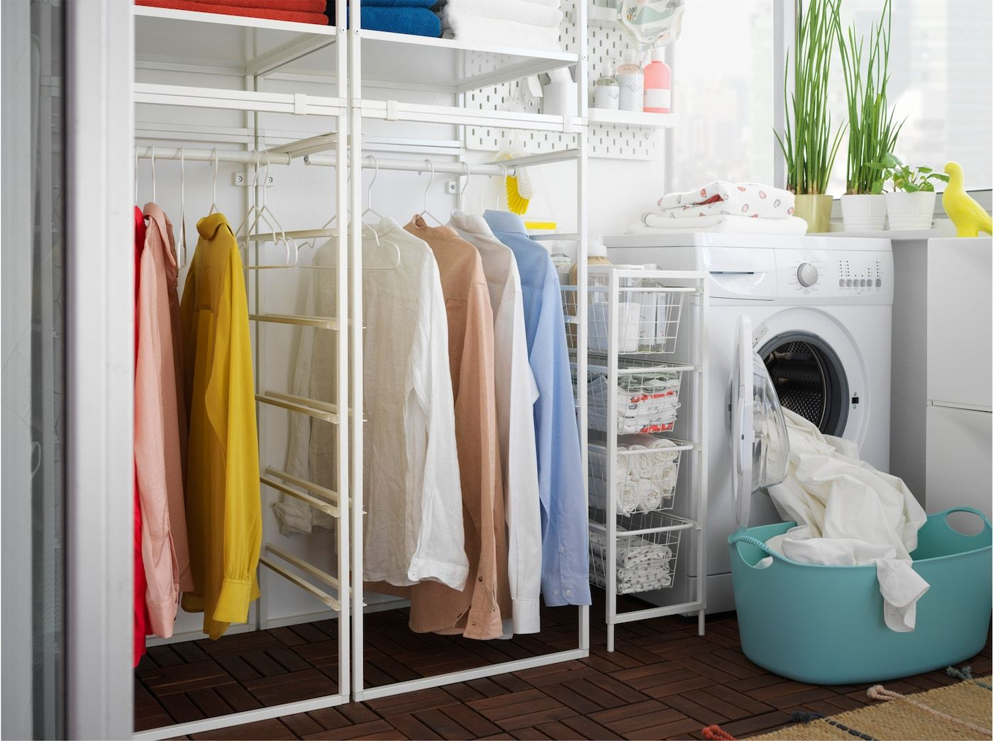 Affordable Laundry Room With Jonaxel Shelving Unit Laundry Room