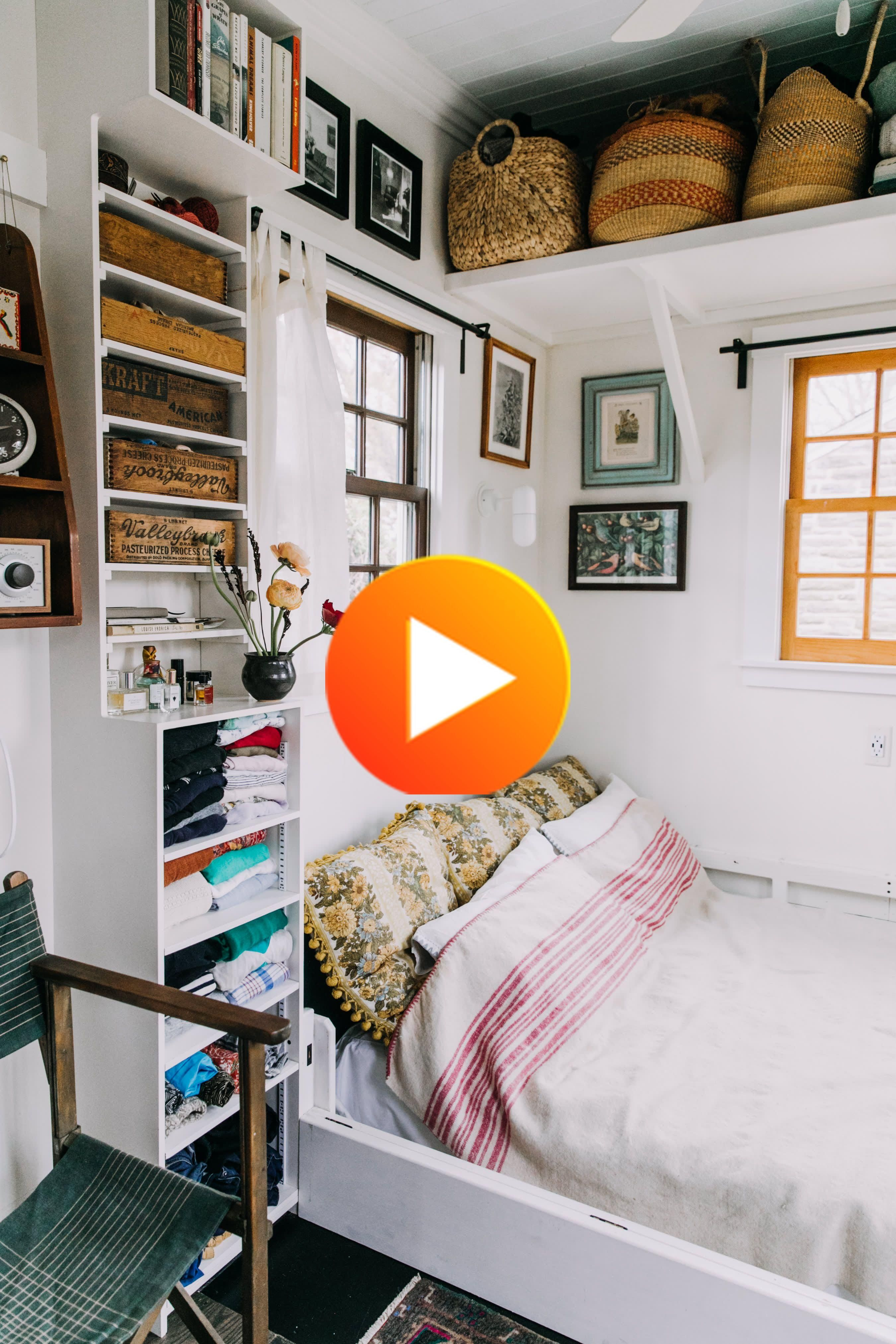 The Smartest Small Space Storage Ideas We Saw In 2018 In 2020 Small Spaces Small Space Storage Small House Tour