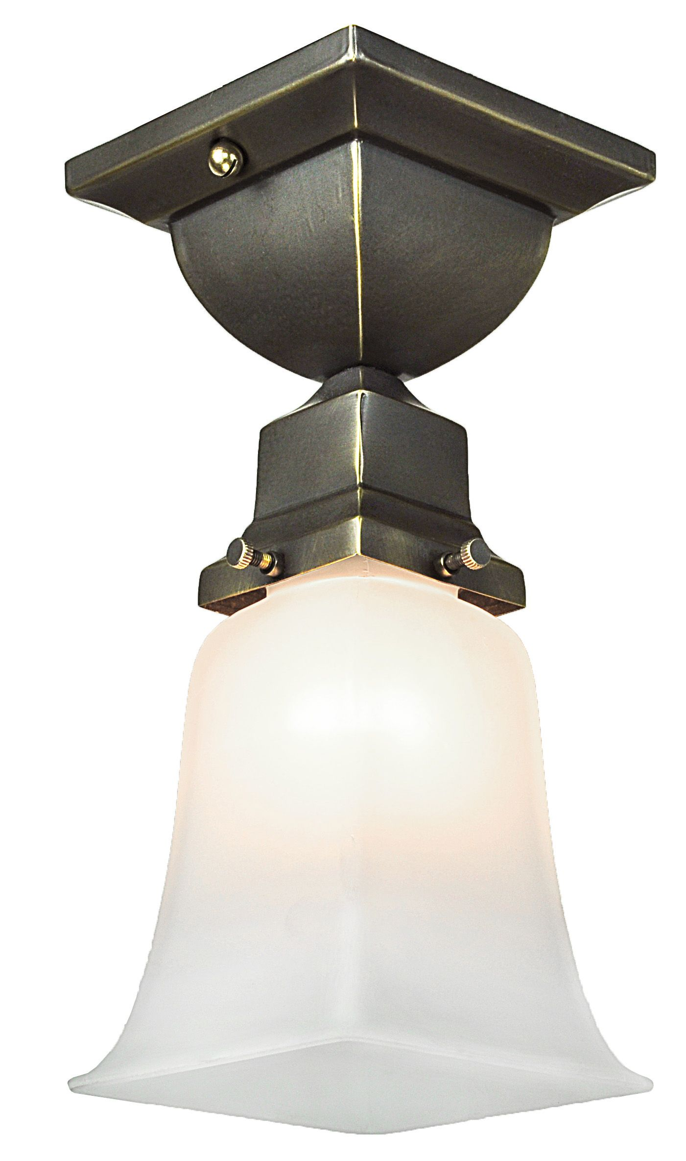Vintage Hardware U0026 Lighting   Mission Style Flush Mount Very Close Ceiling  Light (416 MVCC)