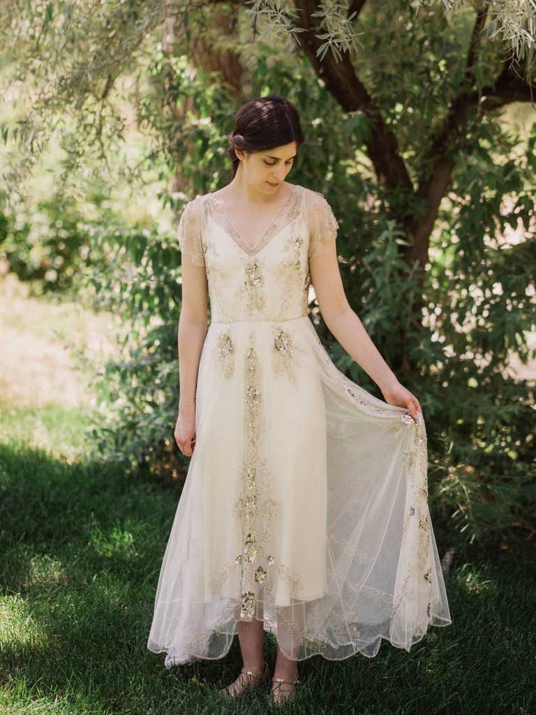 1930s style wedding dresses  Jenny Packham Marina Gown  Preowned  Off  Vintage Inspired