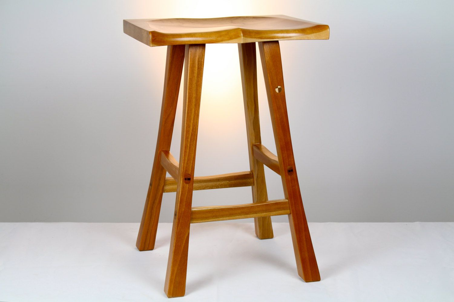 Stool wood stool kitchen stool chair solid cherry guaranteed