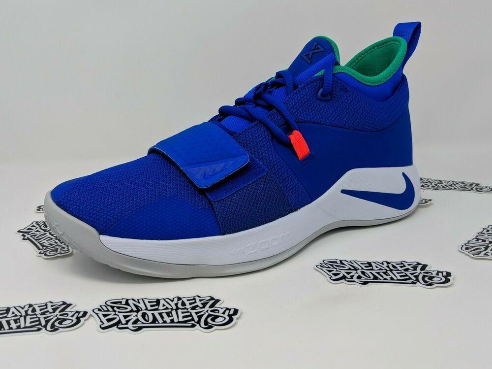 separation shoes d2772 71368 Nike PG 2.5 Fortnite Cold Oklahoma Racer Blue White Paul ...