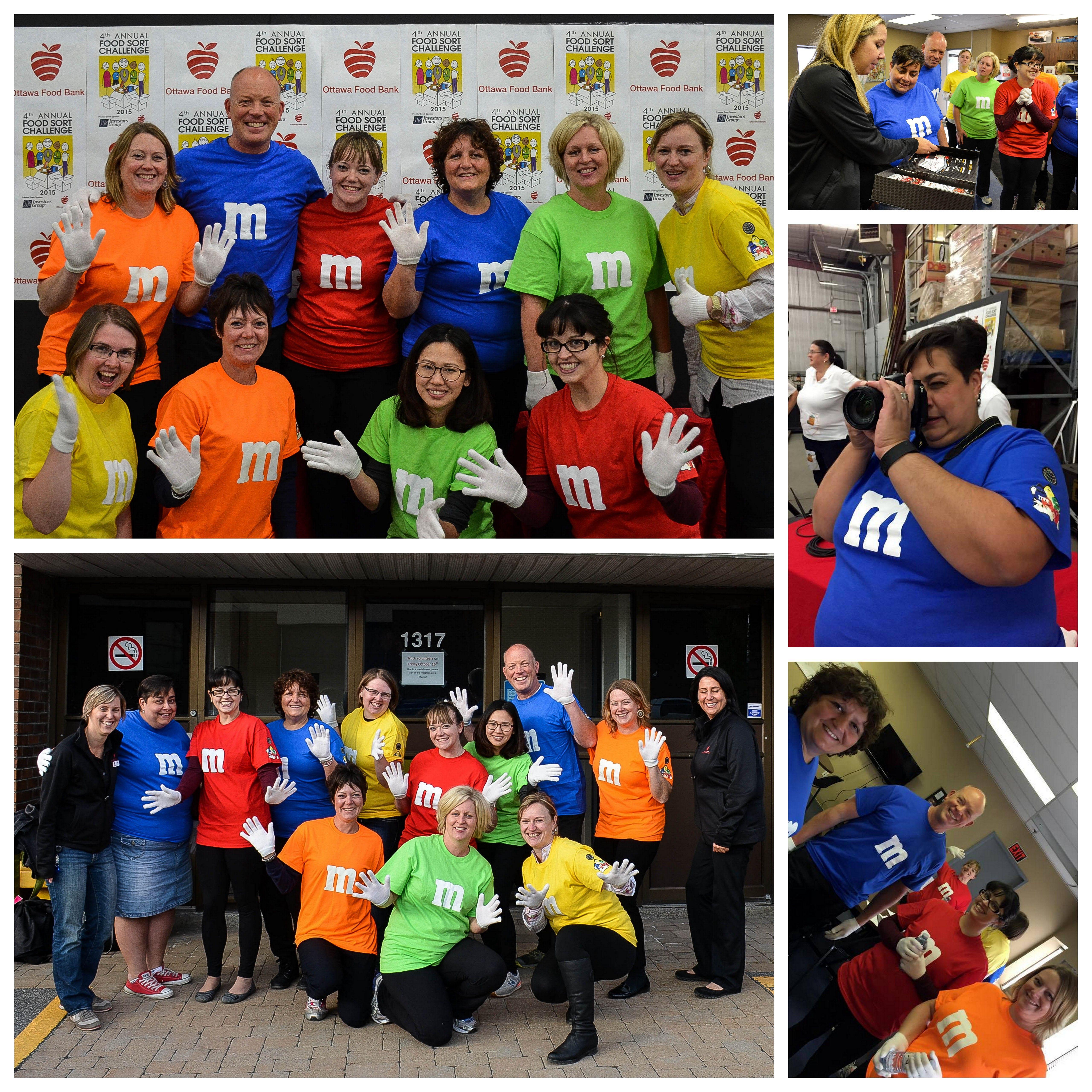 Ottawa Food Bank Food Sort Challenge @mpiottawa #mpiottawa #givetime #mandms #colourfulvolunteers