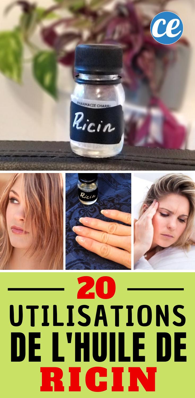 20 Utilisations Incroyables de l'HUILE DE RICIN Que