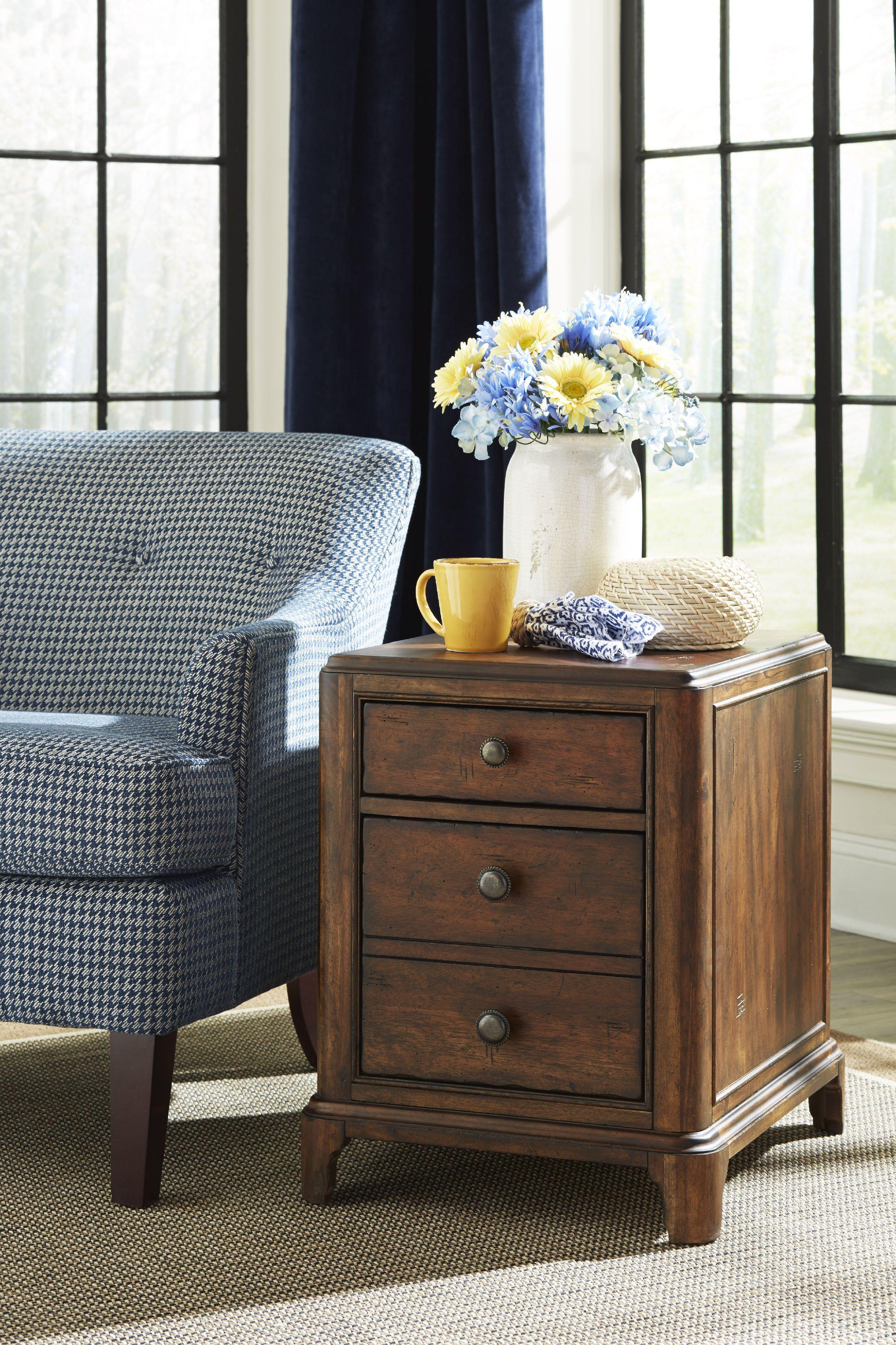 Trisha Yearwood Home Georgia Rain Drawer Chairside Table By At Belfort Furniture