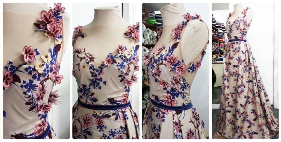 Vestido de crepe de algodão! Vista-se de sonhos... #vestido #dress #crepe #flores