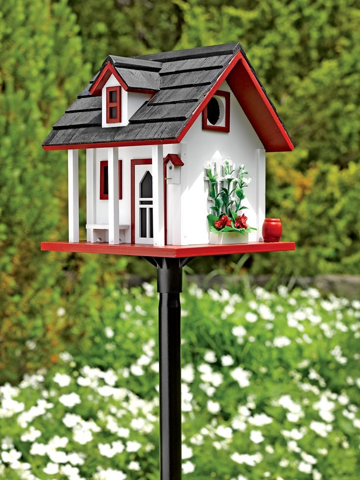 Best Garden Cottage Birdhouse – Hardwood Pine Shingles Kuş 400 x 300