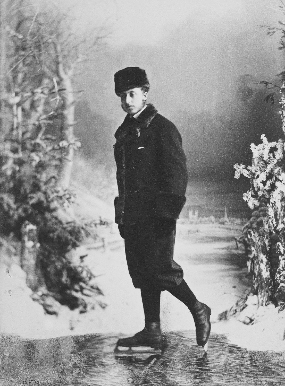 Prince Arthur skating, Canada, January 1870