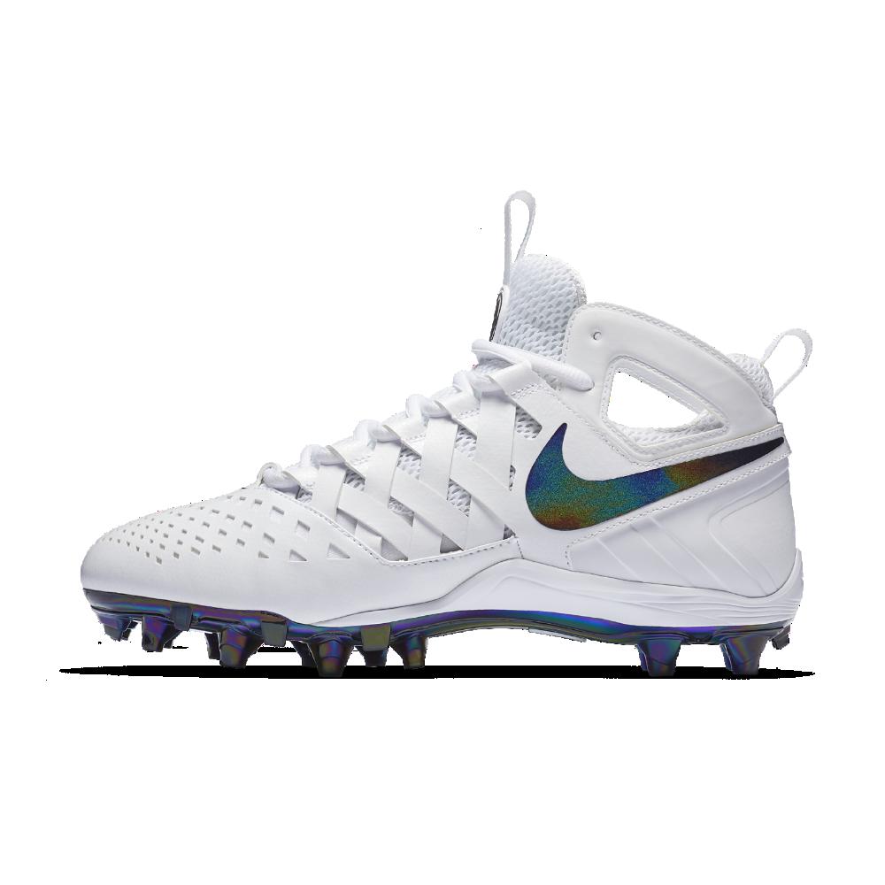 851d03e0a46 Nike Huarache V LAX Men s Lacrosse Cleat Size 10.5 (White) - Clearance Sale