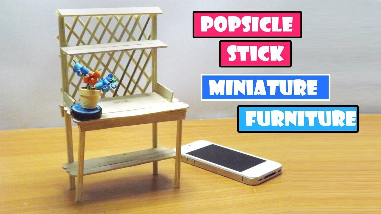 how to build miniature furniture. Popsicle Stick Craft | DIY Miniature Furniture Desk Easy Step How To Build