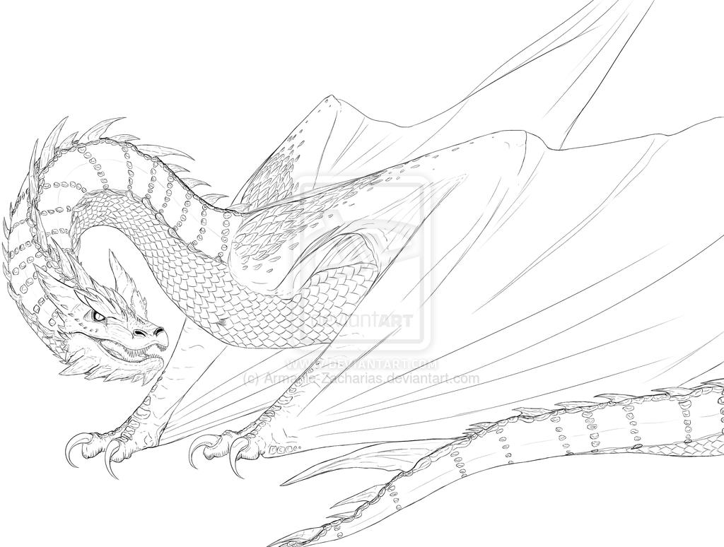 Smaug By Armanie Zacharias On Deviantart Dragon Artwork Smaug Princess Coloring Sheets