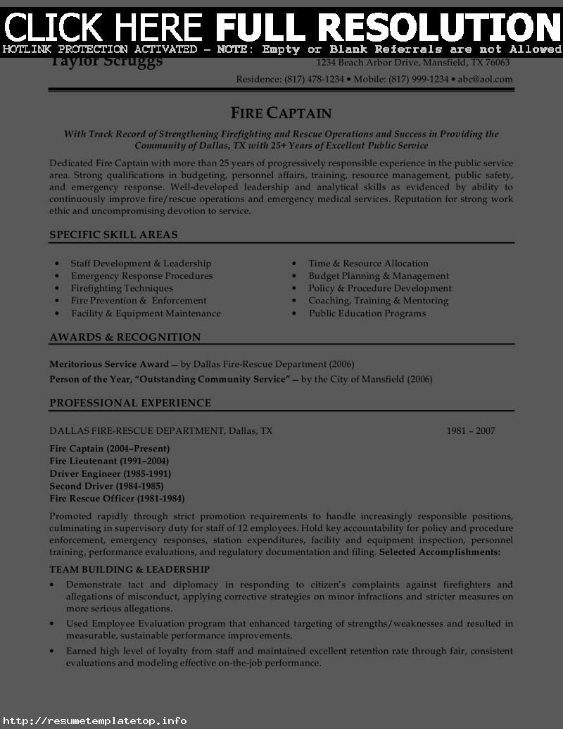 Police Officer Resume Sample Objective  HttpWwwResumecareer
