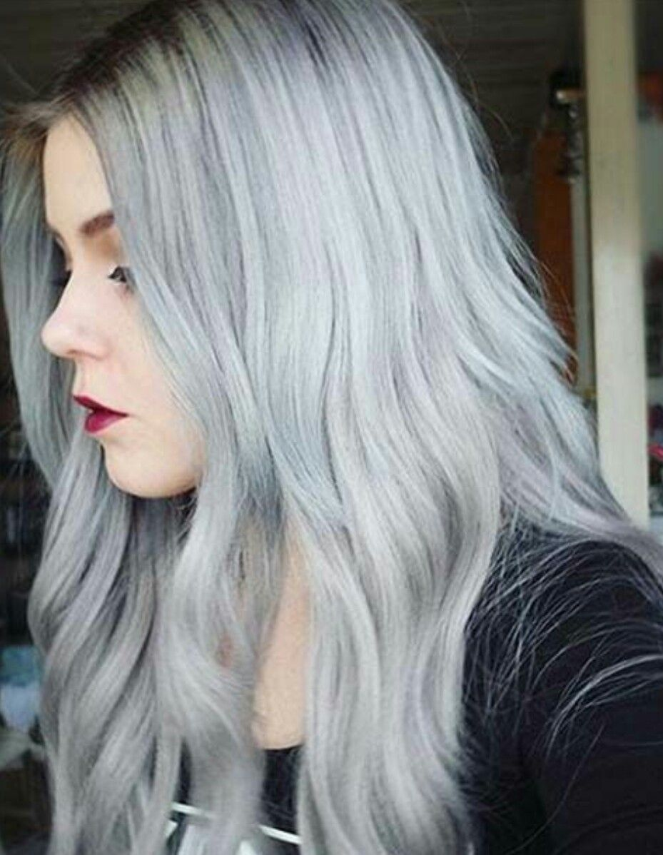 Pin By Logan Coxeter On Looks Hair Silver Grey Hair Temporary