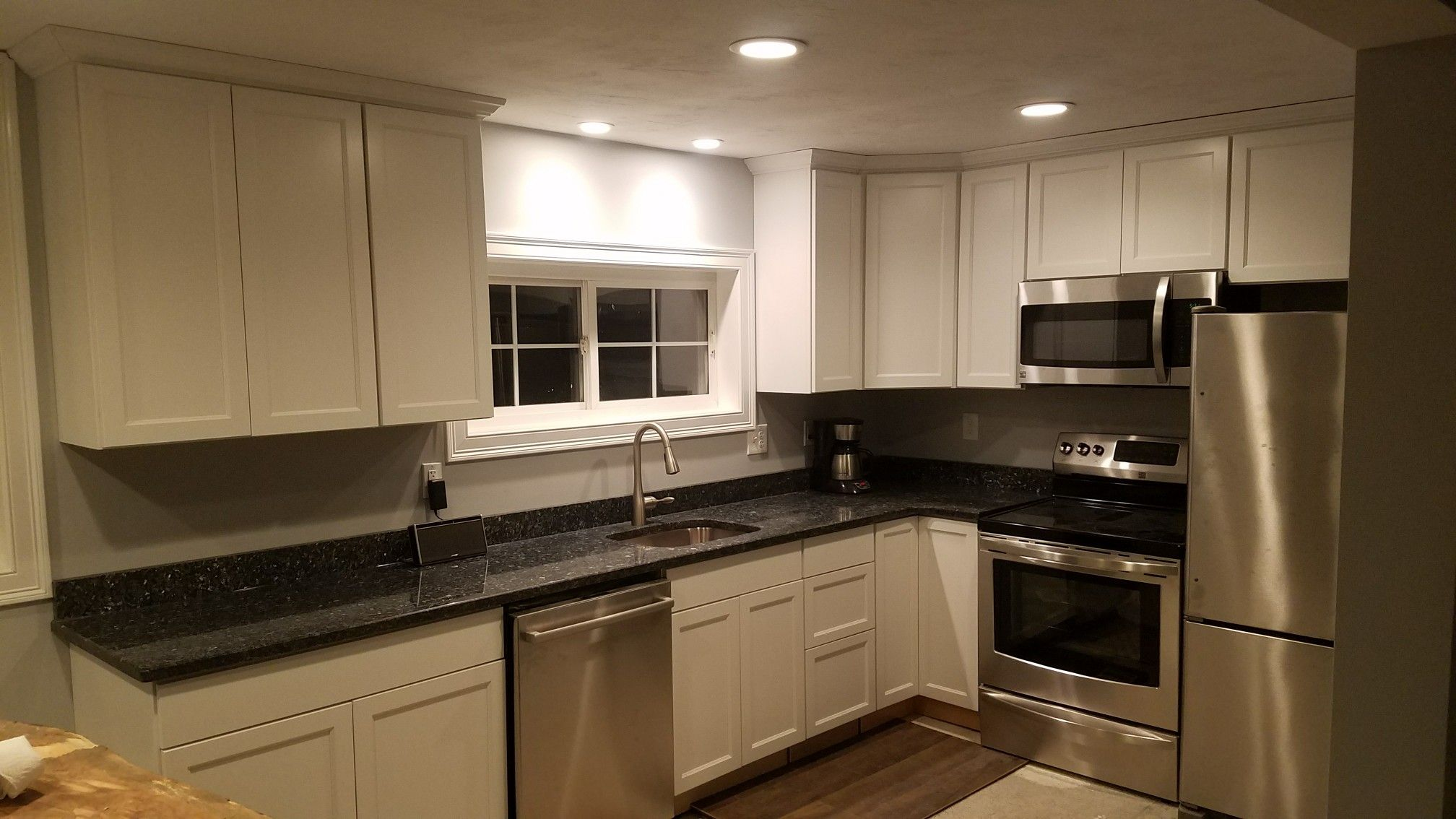 Blue Pearl Countertops, Extra white maple cabinets ... on Maple Cabinets With White Countertops  id=72275