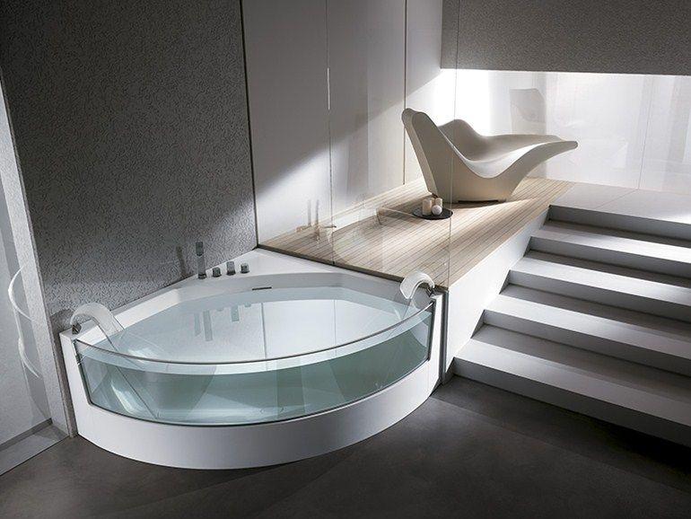 vasca da bagno angolare idromassaggio view angolo by teuco design ... - Vasca Da Bagno Angolare