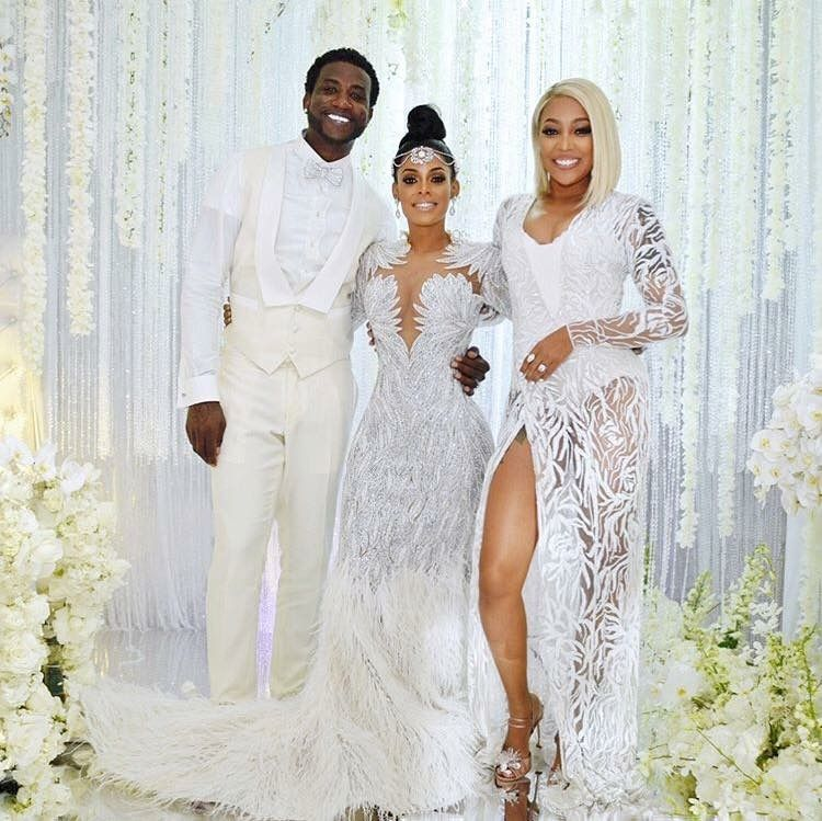 26fc8ea656d Monica Brown singer and actress Gucci Mane Wedding.