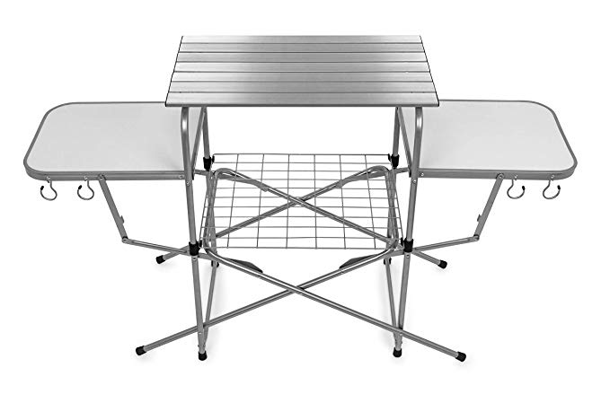 Amazon Com Camco 57293 Deluxe Folding Grill Table Automotive In 2020 Camping Table Grill Table Camco