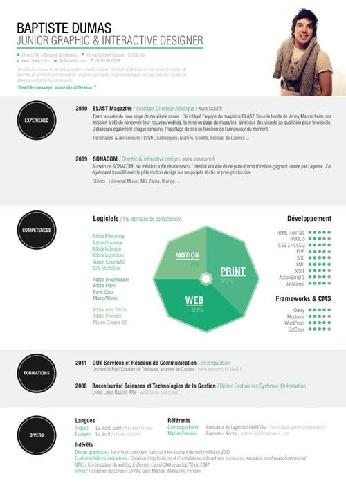 30 Great Examples Of Creative CV Resume Design - Resume design, Creative cv, Infographic resume, Graphic resume, Graphic design, Creative resume -  Resume will require you thinking through your skills, abilities, experience and achievements  It is important to remember that your CV should act as a 'tickler'  It must contain enough