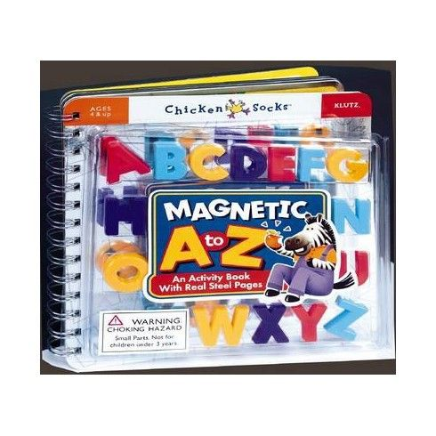 Magnetic A to Z: An Activity Book With Real Steel Pages