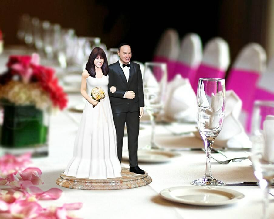 From Photos To Custom Exact 3D Printed Wedding Cake Topper