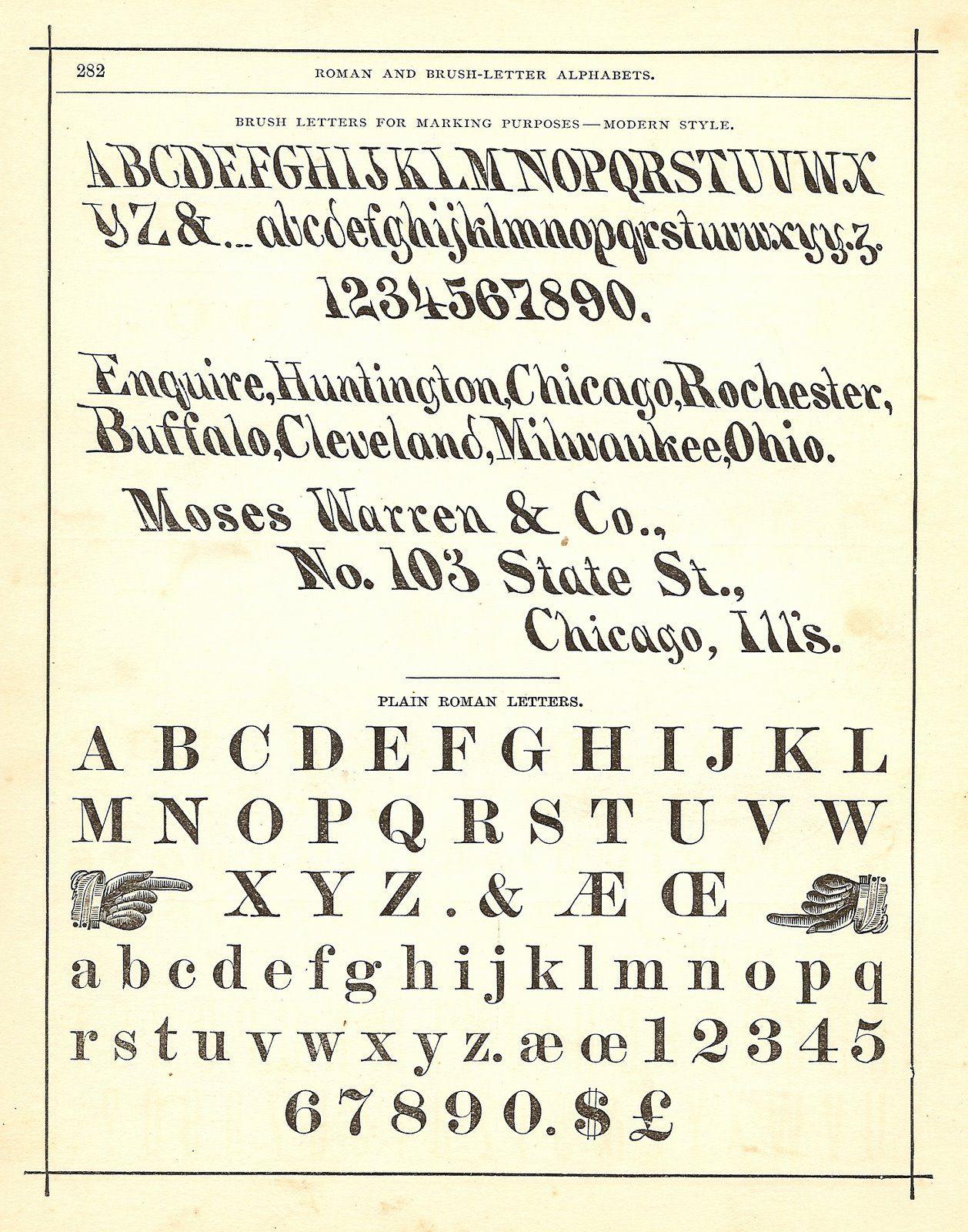 Vintage Alphabet Clip Art