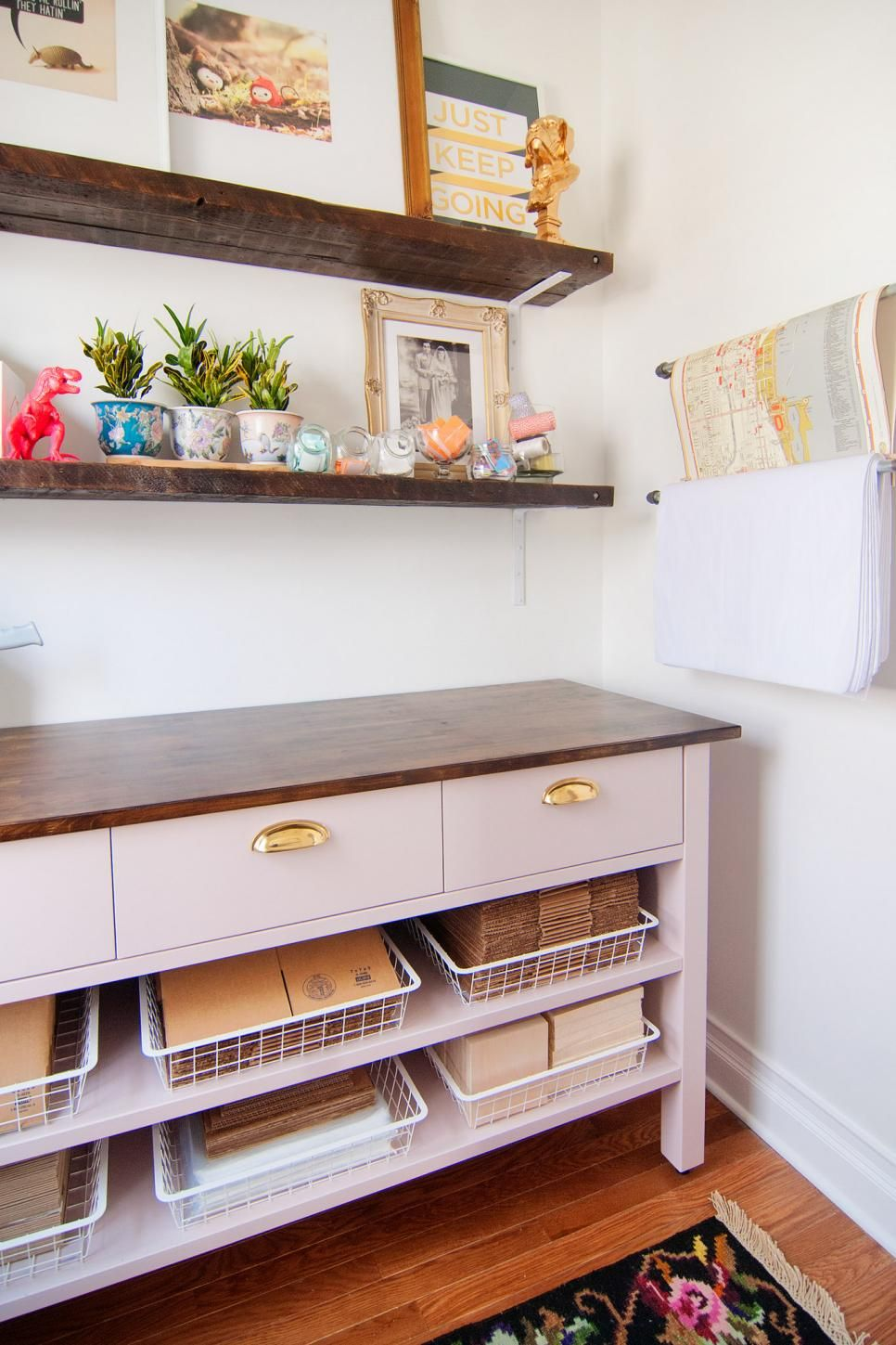 creative ways to make the most of your wall space shelving