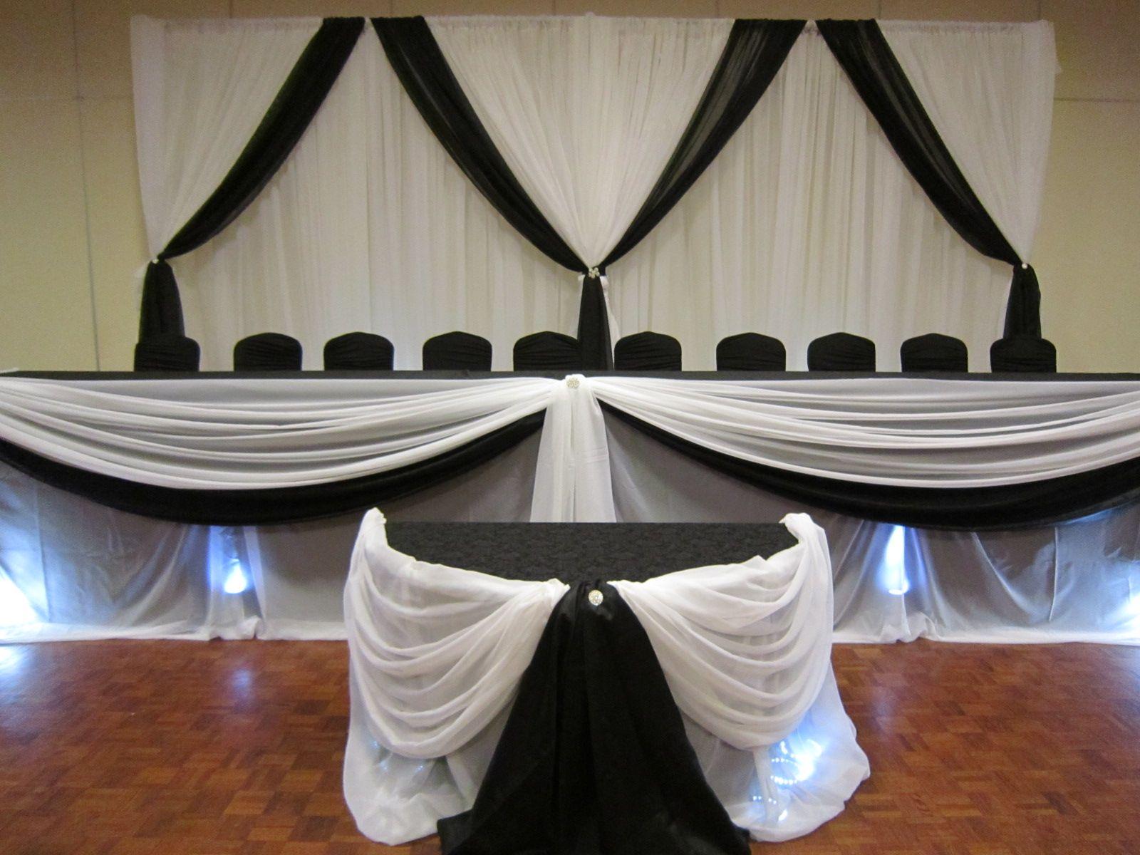 Black on black wedding decor  Black and White Wedding Decor tthemooddecor