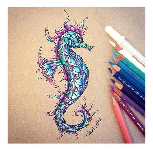 Hippocampe Hippocampe Dessin Peinture Et Dessin Magnifique