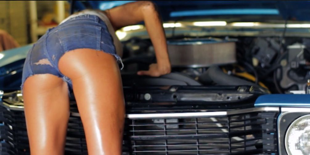 naked automotive sales girl