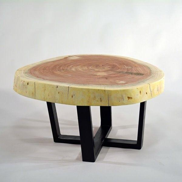 Couchtisch Baumscheibe Design neu bei Fabrikschickde - Slab Table - couchtische design ideen