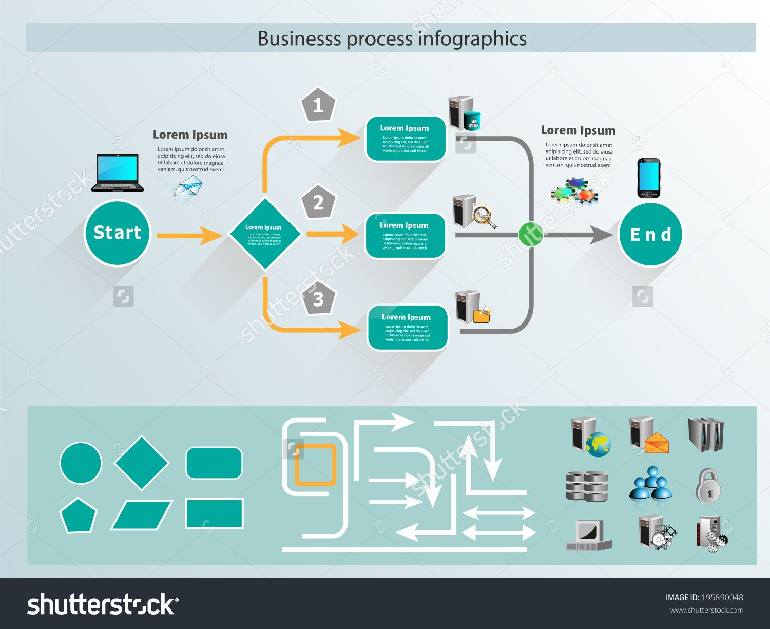 process flow infographic