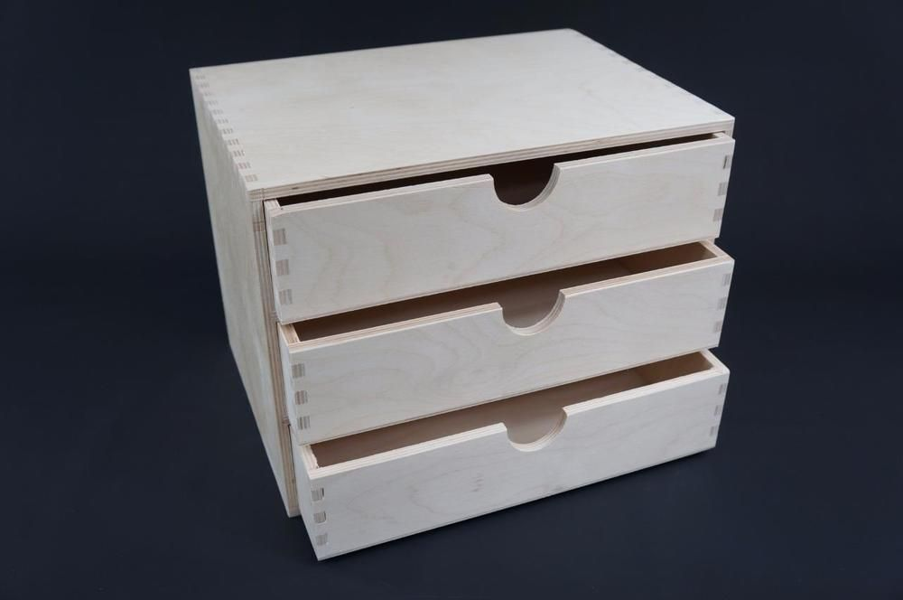 Details About 1 X Plain Wooden Cupboard Chest Shelf With Drawers