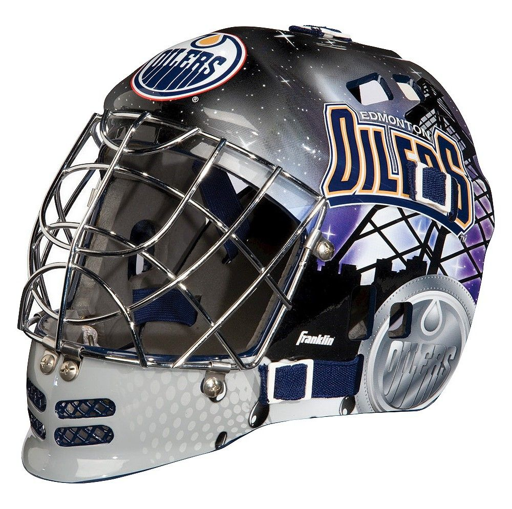 Add This Mini Goalie Mask From Franklin To A Sports Themed Room Or Have A Little One Use It For Fun When They Re Playing Ins Goalie Mask Goalie Edmonton Oilers