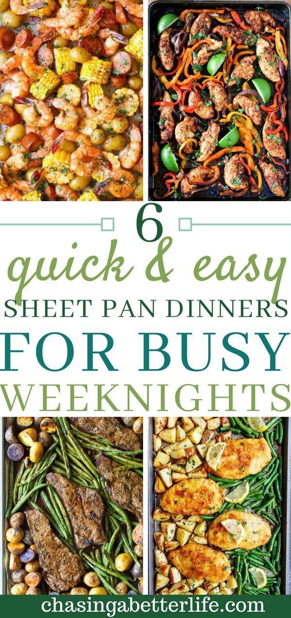 6 Quick and Easy Sheet Pan Dinners For Busy Weeknights images