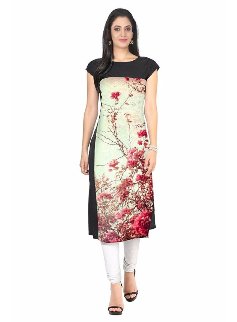 Shop Beige Crepe Readymade Kurti online at best price from