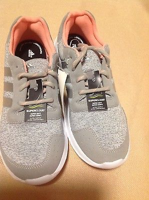 New Adidas Element Gray Refresh Supercloud Grey Women Athletic Shoes size 10