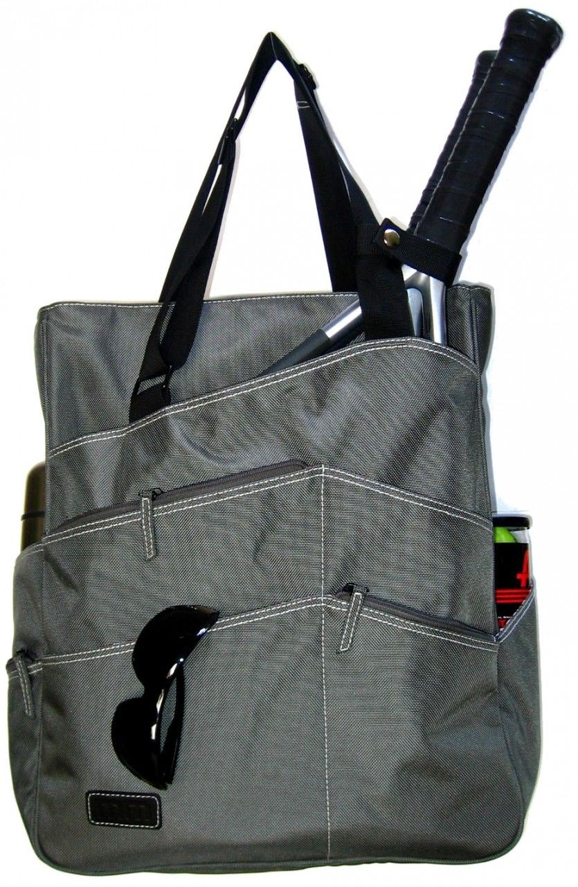 Slamglam Maggie Mather Pewter Super Tote Tennis Bag The Is