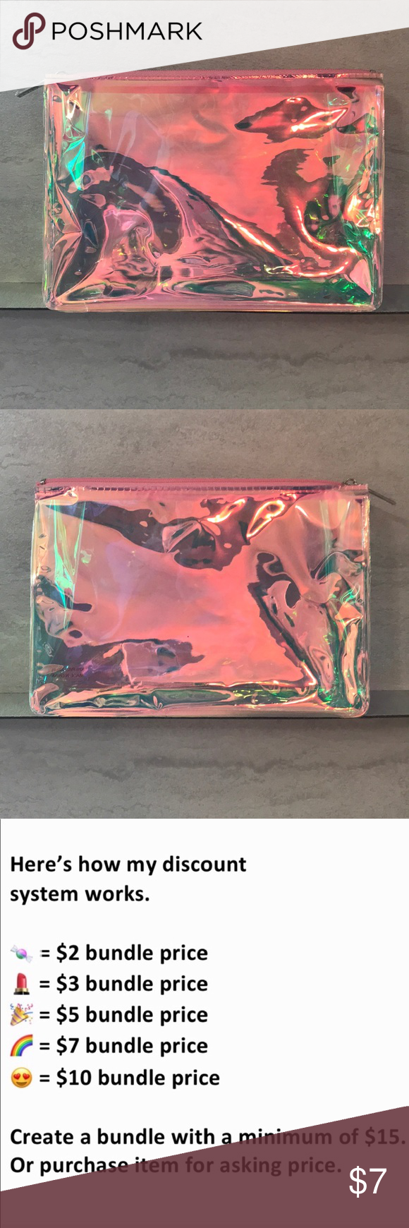7/15 Sephora Glow For It Holographic Bag 💖 NWT