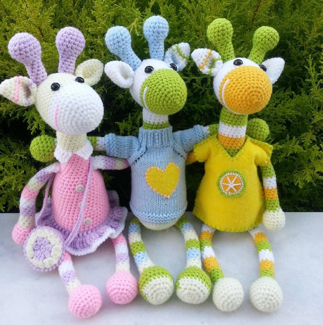 Party giraffes | Amigurumi | Pinterest | Jirafa, Patrones amigurumi ...