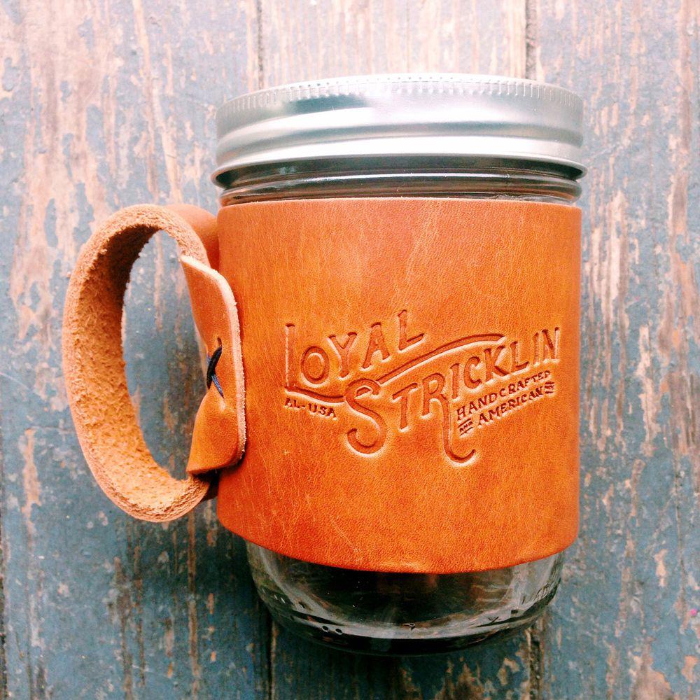 Loyal Stricklin: The Original Aviator Travel Leather Coffee Mug #MarthaStewartAmericanMade #fathersdaygifts #giftideas