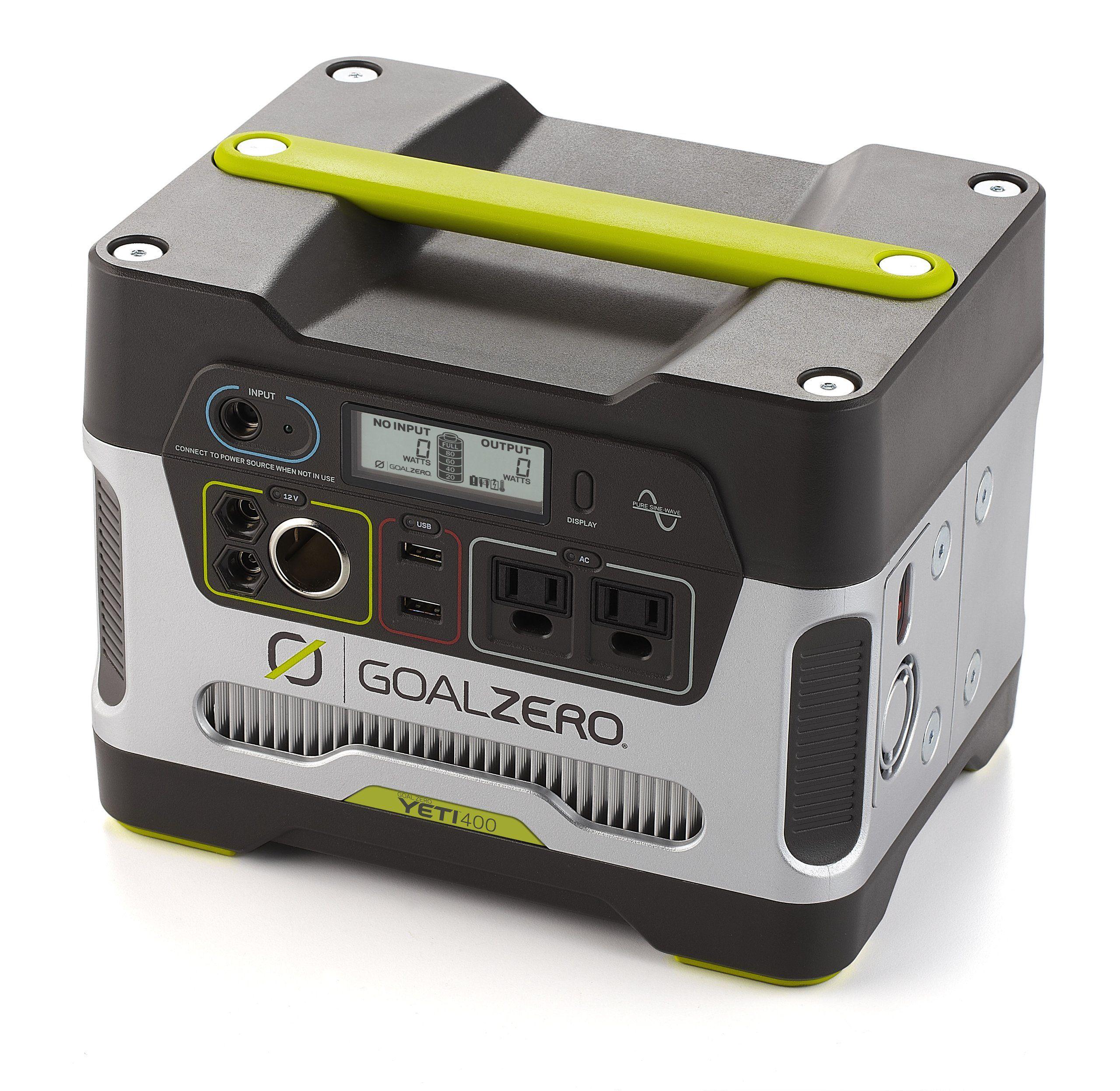 Goal Zero Yeti 400 Solar Generator Quiet portable power