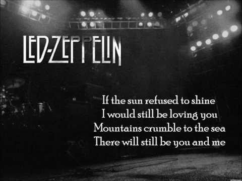 Led Zeppelin Thank You Lyrics On Screen Our Song 1st With Led