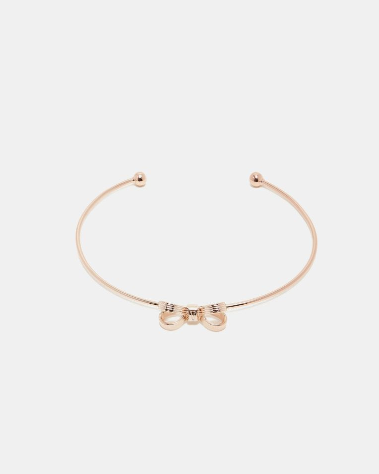 Mini Bow Cuff Rose Gold Jewellery Ted Baker Uk 素金 In 2019