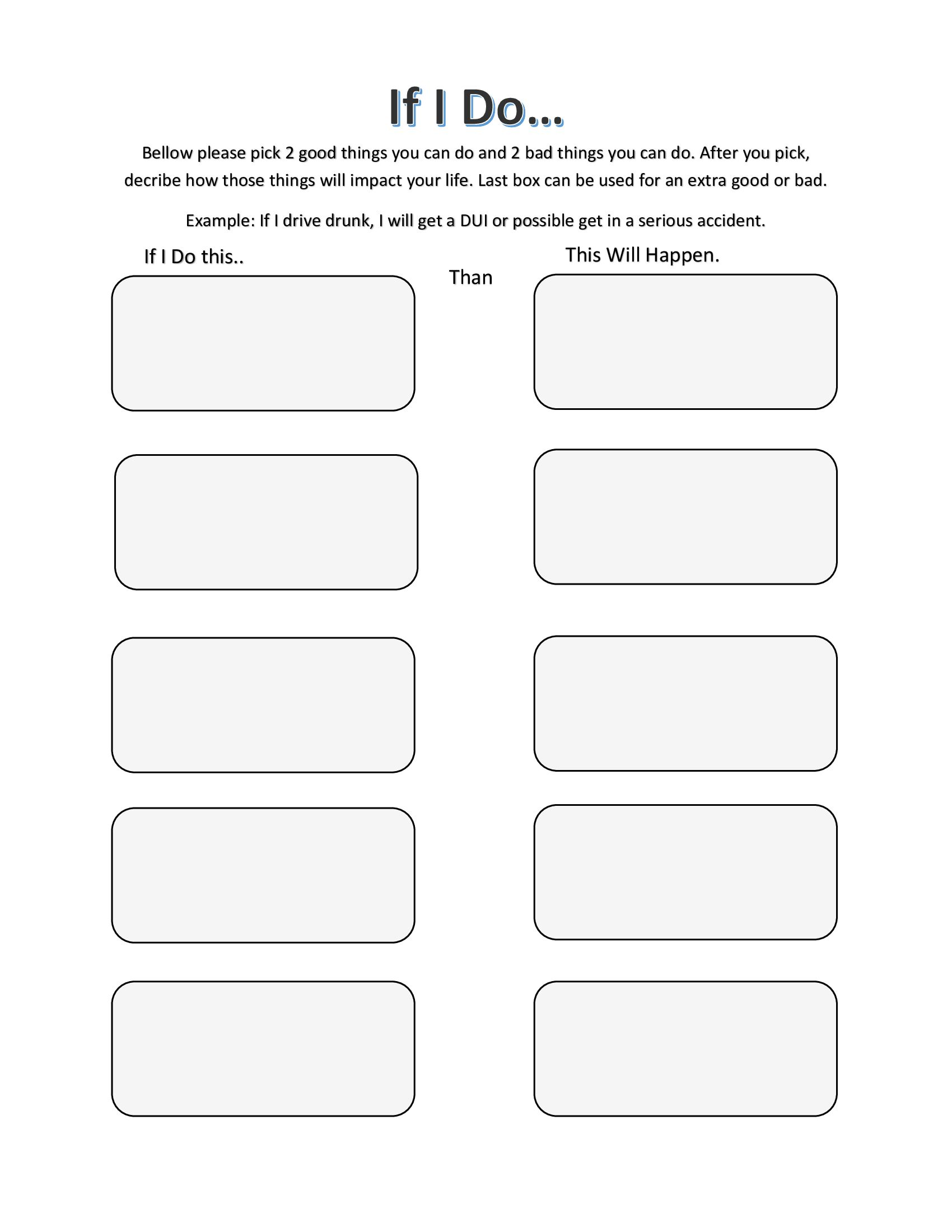 If I Do Therapy Worksheets Group Therapy Activities Cbt Therapy Worksheets