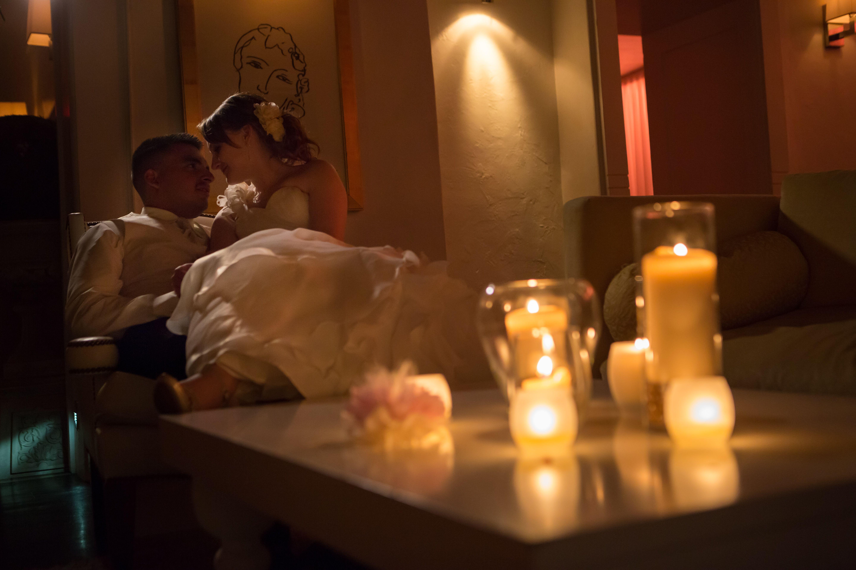 Romantic candlelit reception at Casa Esencia - Wedding Photography by Talitha A. Tarro